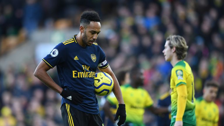 Pierre-Emerick Aubameyang's double rescued Arsenal