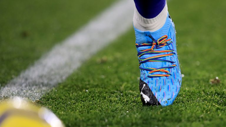 Maddison wore rainbow laces during Leicester's 2-0 win over Watford
