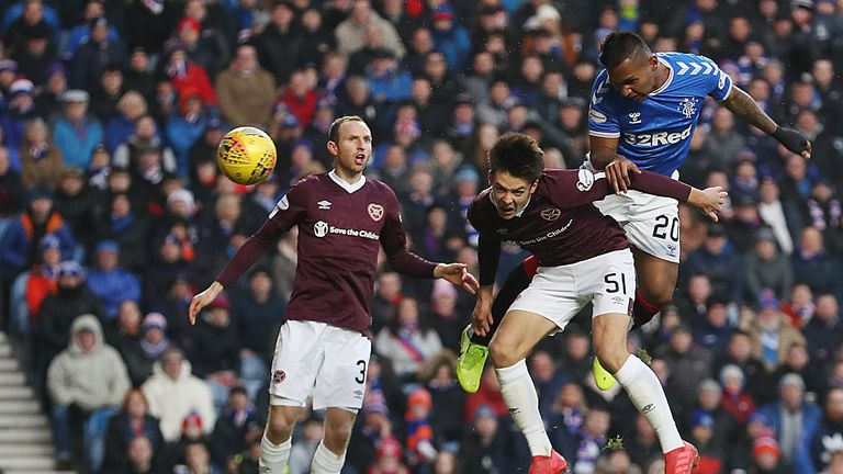 Hearts lost 5-0 to Rangers in their last Scottish Premiership match