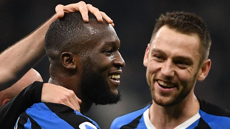 Inter went joint-top of Serie A after their 4-0 win