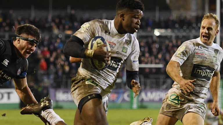 Samuel Ezeala scored two second-half tries and created another on his Champions Cup debut