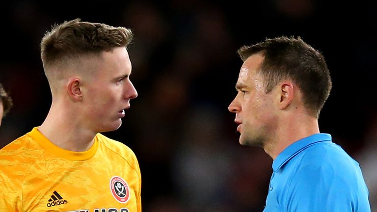 Dean Henderson was left furious with referee Stuart Attwell