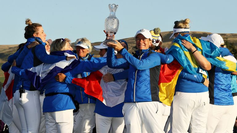 Catriona Matthew captained Team Europe to a 14.5-13.5 success at Gleneagles