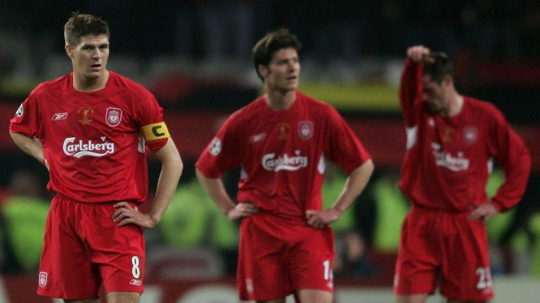Steven Gerrard was left shell-shocked after the first half in Istanbul