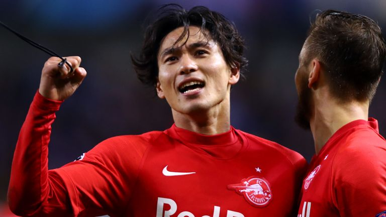 Takumi Minamino has impressed for Red Bull Salzburg this season