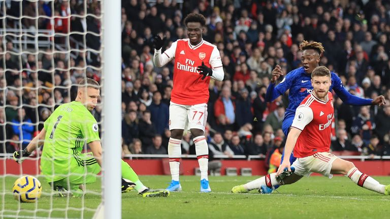 Tammy Abraham scored a late winner for Chelsea at the Emirates