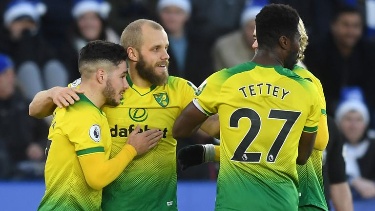 Teemu Pukki gave Norwich the lead against Leicester on Saturday