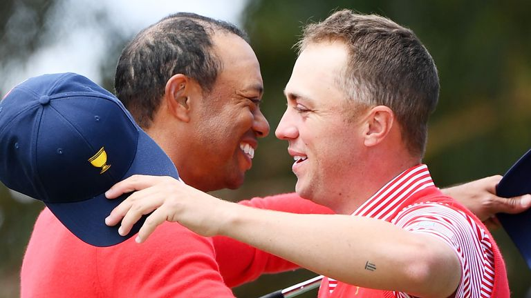 Woods birdied the par-five 15th to give Team USA the early advantage