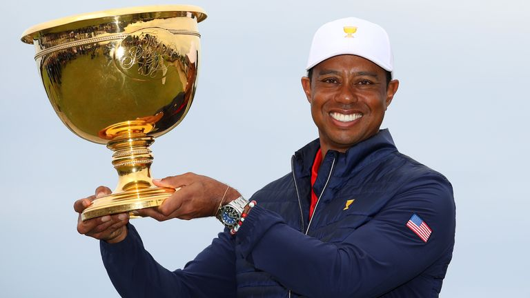 Woods captained the USA to Presidents Cup glory in December