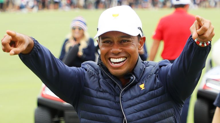 Woods also won all three of his matches for Team USA at Royal Melbourne