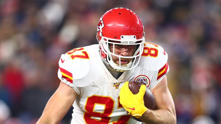 Chiefs tight end Travis Kelce scored a rushing touchdown when lining up at quarterback