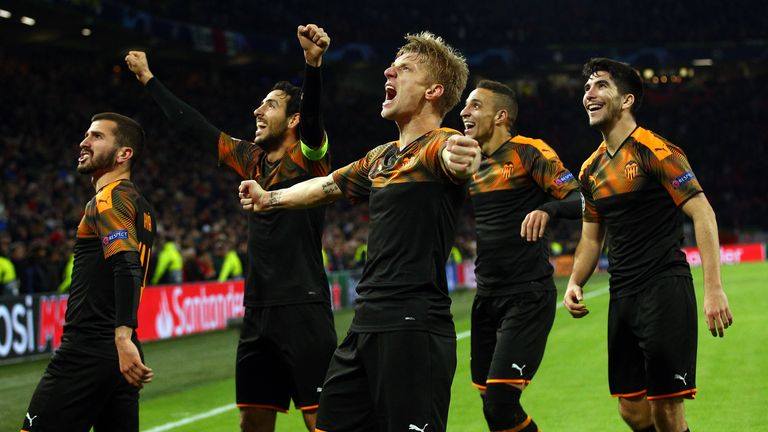 Valencia stunned Ajax with victory in Amsterdam