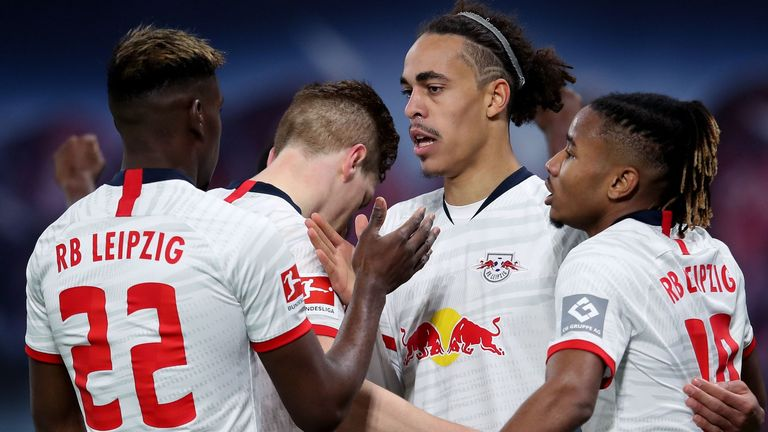 RB Leipzig also left it late to beat Augsburg