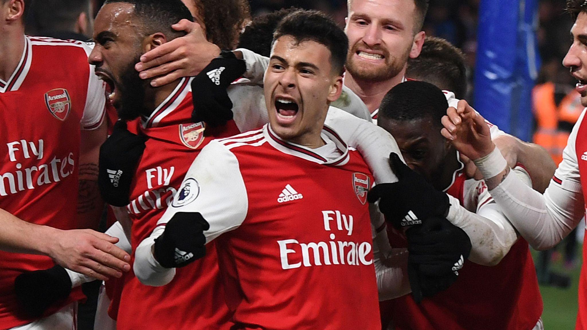 Gabriel Martinelli spirit 'incredible', says Arsenal boss Mikel Arteta