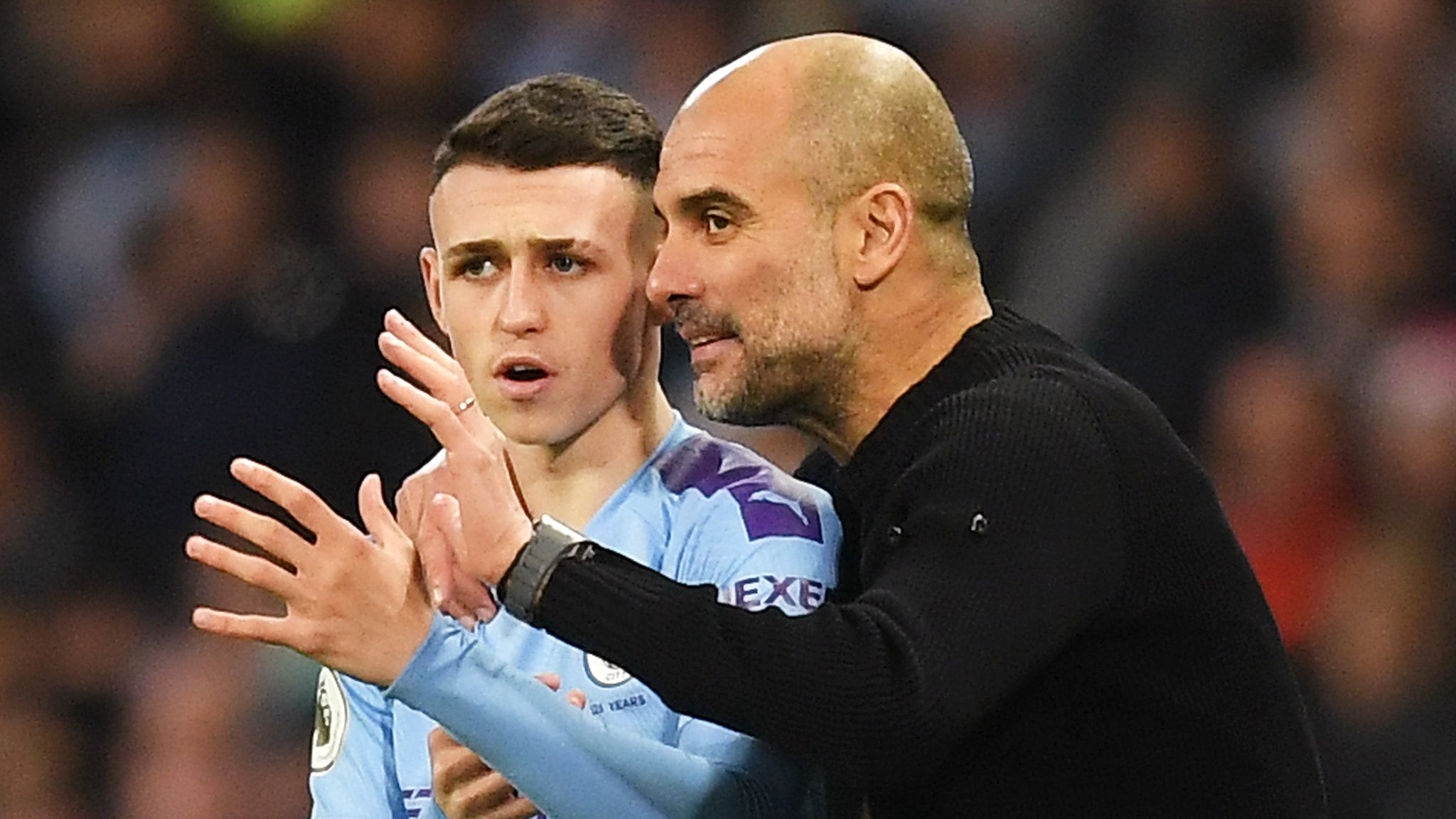 Phil Foden says he could not ask for a better manager than Pep Guardiola at Manchester City