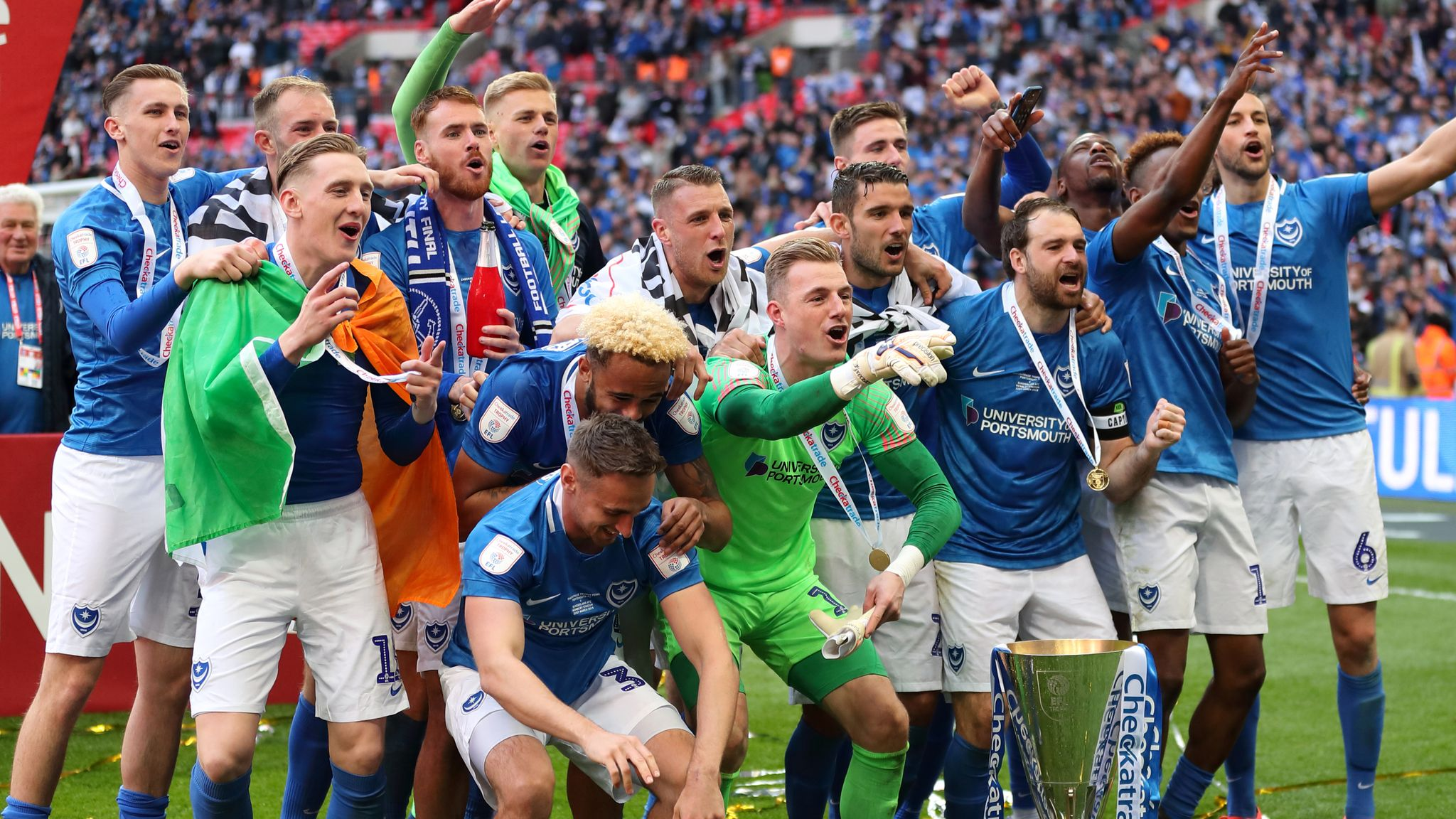 Leasing.com Trophy: Portsmouth at home to Scunthorpe in quarter-finals