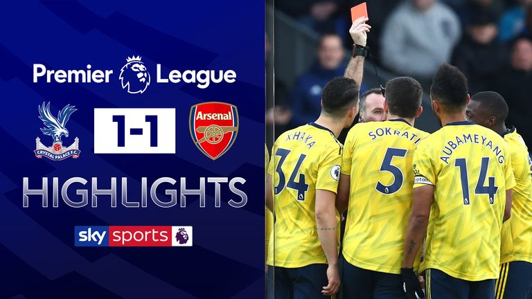 FREE TO WATCH: Highlights from the 1-1 draw between Crystal Palace and Arsenal in the Premier League.
