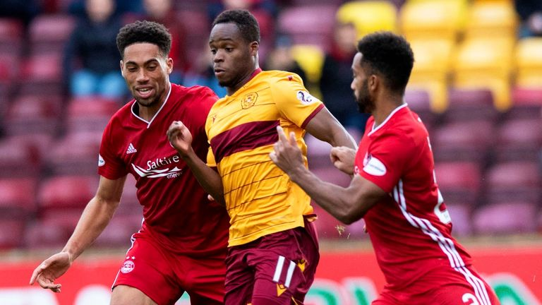 Aberdeen and Motherwell in Premiership action
