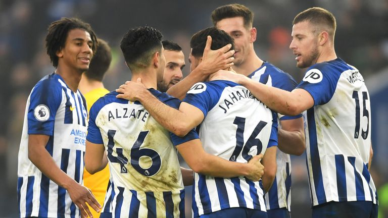Jahanbakhsh cut an emotional figure after finally opening his Brighton goalscoring account