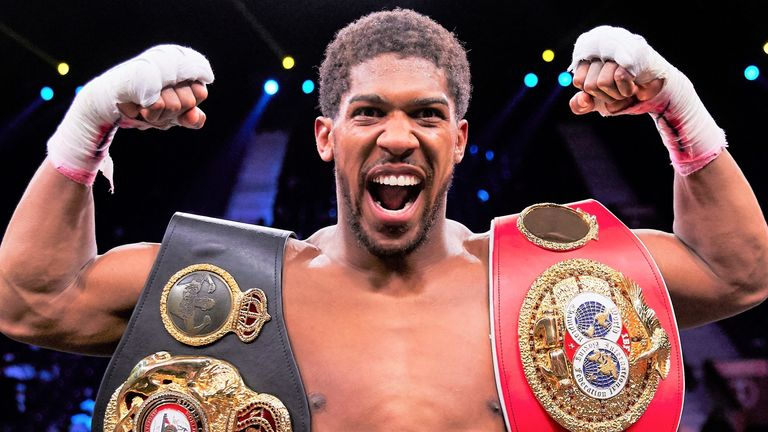 Anthony Joshua holds the WBA 'super', IBF and WBO belts