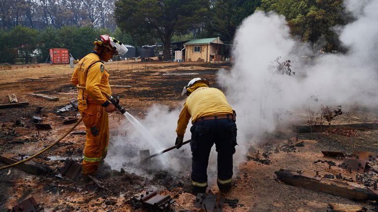 Wingello, with a population of about 500 in New South Wales, was devastated by fire