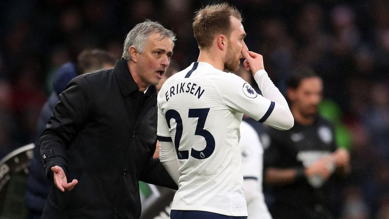 Tottenham boss Mourinho happy with wantaway Eriksen for FA Cup win