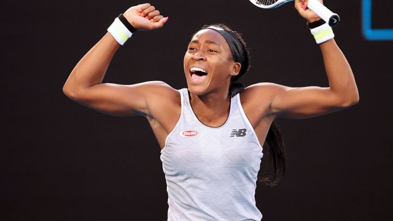 Gauff beat defending champion Naomi Osaka in the third round