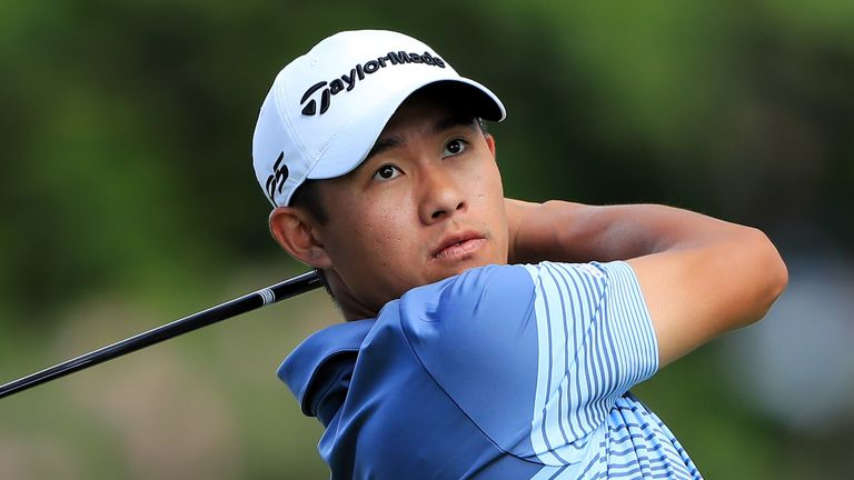 Golf rising star Morikawa beats high winds to lead in Hawaii