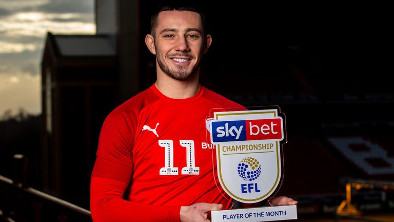 Conor Chaplin of Barnsley wins the Sky Bet Championship Player of the Month award for December 2019.