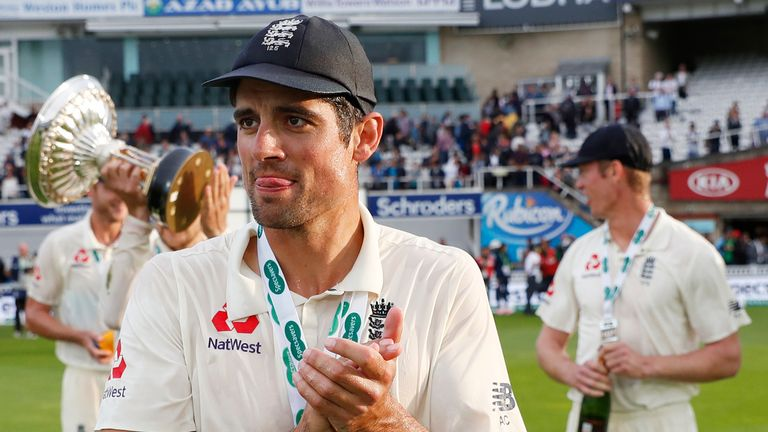 Cook retired from international cricket in 2018