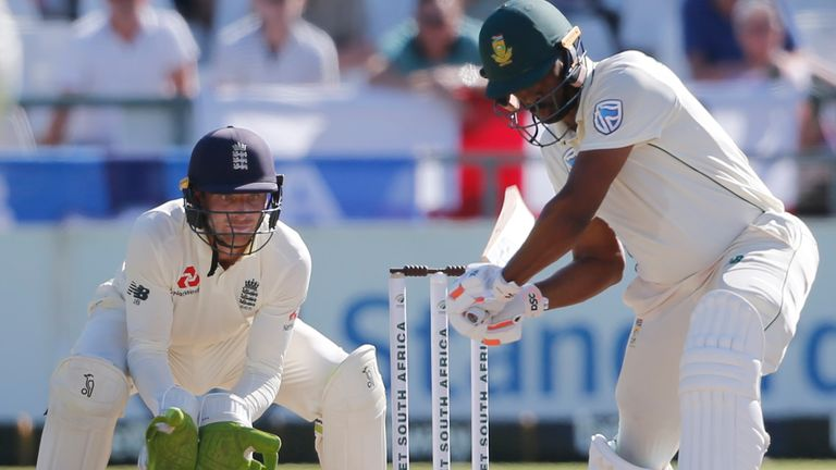 England wicketkeeper Jos Buttler was fined after the stump microphone picked up an obscenity during the second Test at Cape Town