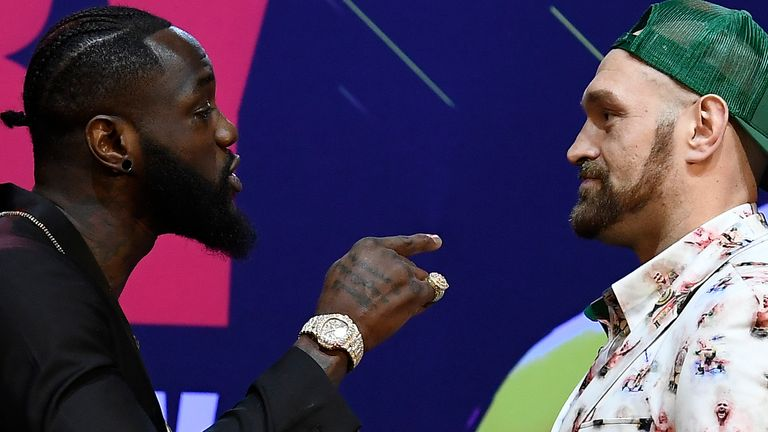 Deontay Wilder faces Tyson Fury next month