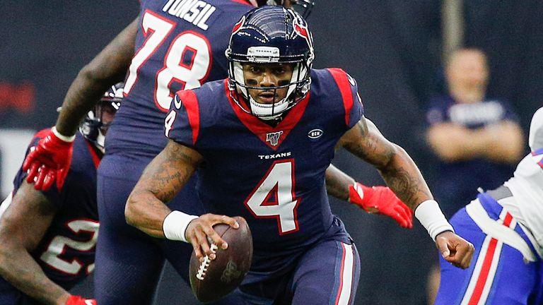 Deshaun Watson finished the regular season 333 of 495 passing for 3,852 yards and 26 touchdowns, along with 413 rushing yards and seven touchdowns