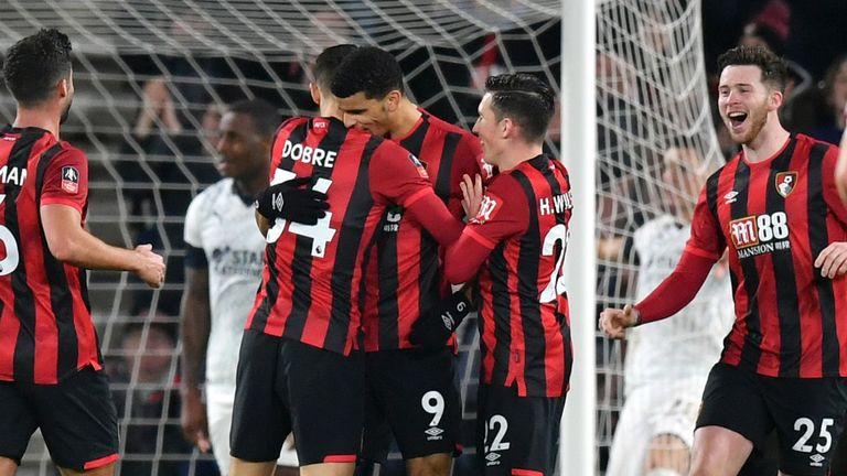 Dominic Solanke scored his first Bournemouth goal against Luton