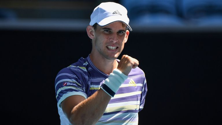 Dominic Thiem eased to victory over Adrian Mannarino