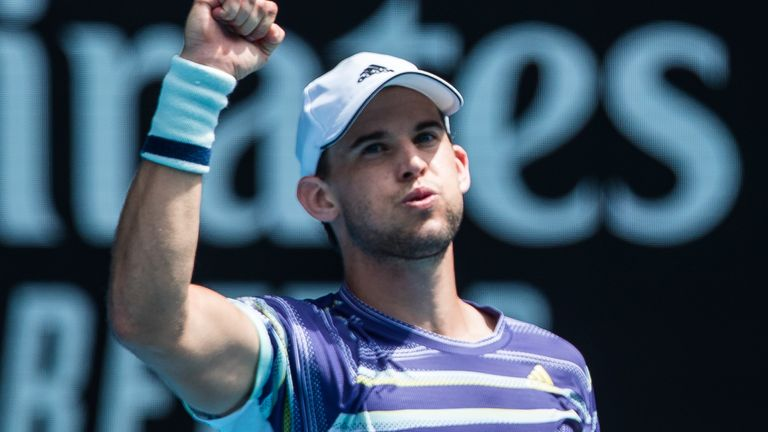 Dominic Thiem crushed Gael Monfils to breeze into the last eight
