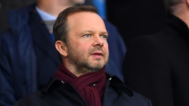Ed Woodward was in the stands at the Etihad to watch the Carabao Cup semi-final, second leg