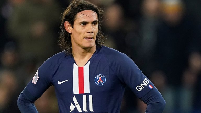 Edinson Cavani attracted interest from a number of clubs during the January transfer window