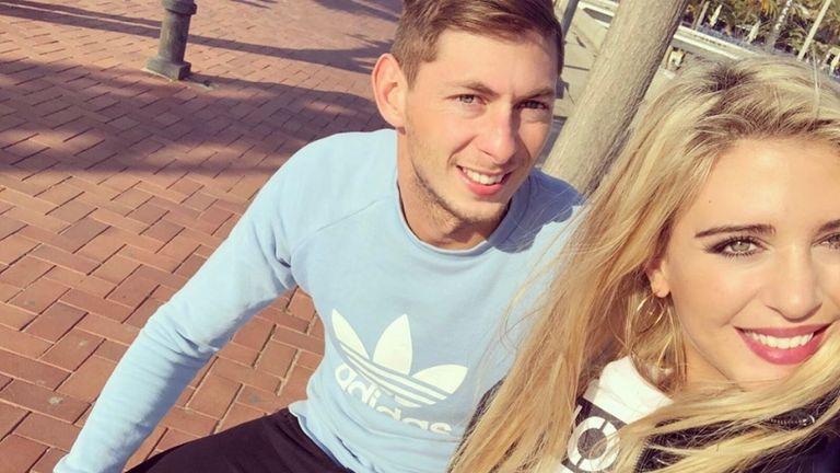 Sala with his girlfriend Berenice Schkair