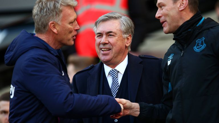 Carlo Ancelotti was pleased with the manner Everton played in the second period
