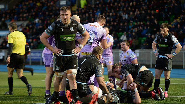 Glasgow and Exeter delivered a thriller at Scotstoun Stadium