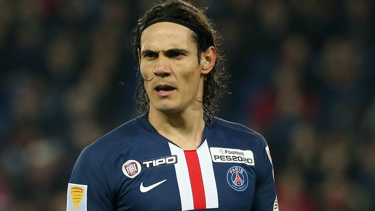 Cavani handed in a transfer request at PSG on Sunday