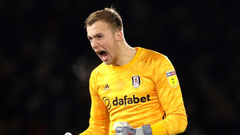 Marek Rodak shows his delight as Fulham sealed the points at Craven Cottage