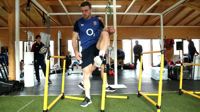 Fly-half George Ford preparing for the start of England's Six Nations campaign