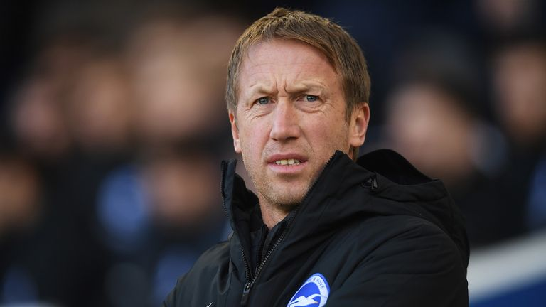 Brighton's Graham Potter is one of two Premier League managers to take a pay cut