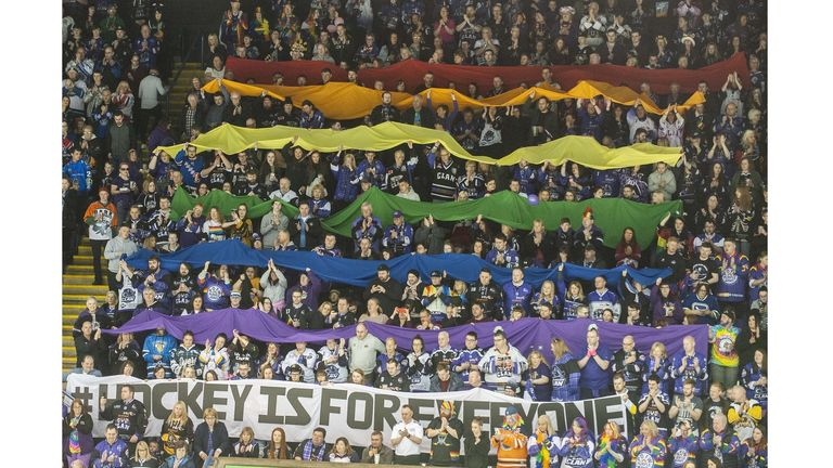 Glasgow Clan fans sent out the message that 'Hockey Is For Everyone' at the playoffs in Nottingham last April (picture: David Williams)