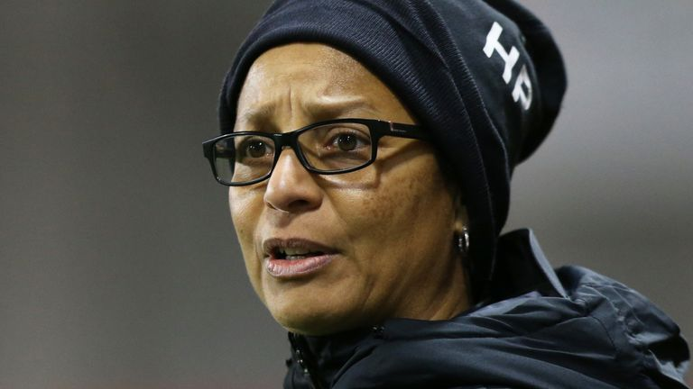 Brighton manager Hope Powell doesn't want to see a WSL side relegated without the season being completed