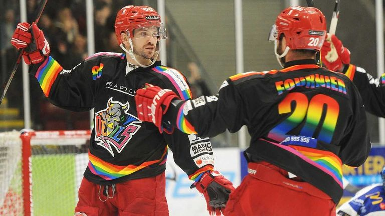 The Cardiff Devils held their second annual Pride Night in February 2019 (picture: David Williams / Helen Brabon)