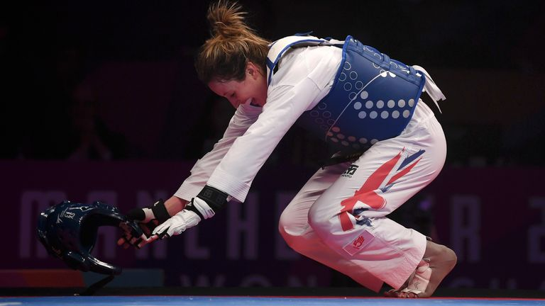 Jones secured the first world title of her career in Manchester last year