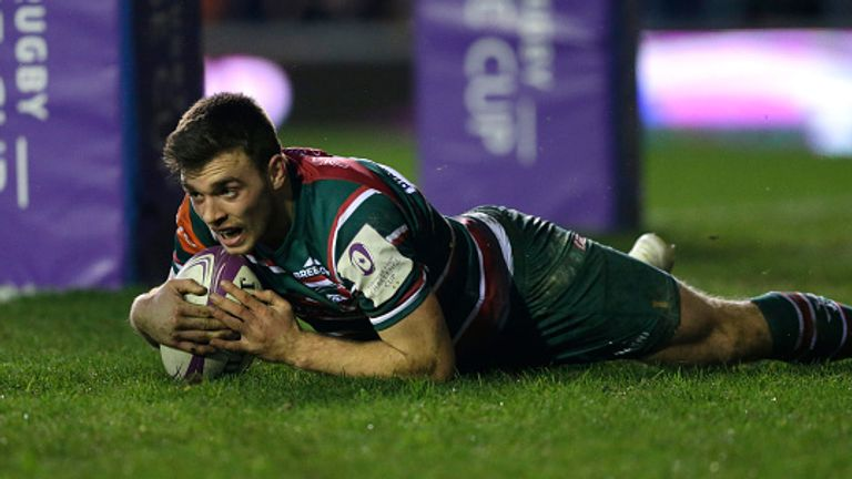 Ben White scores Leicester's third try in their home victory